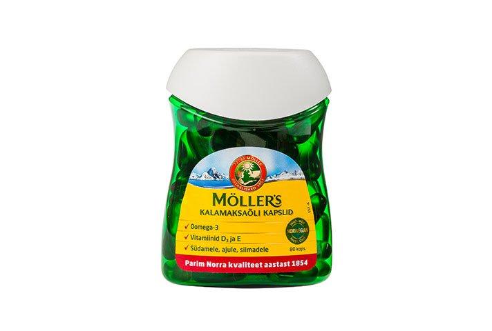 Möller's рыбий жир в капсулах - Møllers